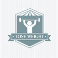 Lose weight design over white background vector illustration Stock Image