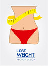 Lose weight design over white background vector illustration Stock Images