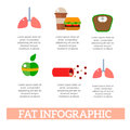 Lose weight by jogging infographic elements and health care concept flat vector illustration