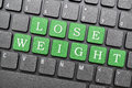 Lose weight key on keyboard Royalty Free Stock Photo
