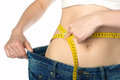 Lose weight measuring waist Stock Photos