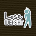 Lose weight over black background vector illustration Royalty Free Stock Image