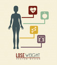 Lose weight over pink background vector illustration Stock Image