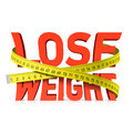 Lose weight word with measuring tape concept Royalty Free Stock Photo