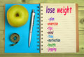 Lose weight words Royalty Free Stock Photo