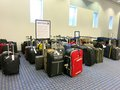 Lost bags at united airlines luggage counter many and delayed the after a cold stretch delayed east coast flights Royalty Free Stock Images