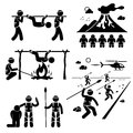 Lost civilization cannibal man eating tribe cliparts a set of human pictogram representing a that eat human these cannibals Royalty Free Stock Photo
