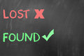 Lost but found Royalty Free Stock Photo