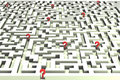 Lost in the labyrinth of decisions - 3D image Royalty Free Stock Photography