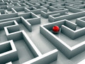 Lost in maze Royalty Free Stock Photo