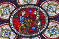 Lost Sheep Parable Jesus Stained Glass Notre Dame Paris France Royalty Free Stock Photo
