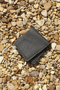 Lost wallet leather on the ground Royalty Free Stock Image