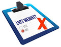 Lost weight yes or no selection Stock Photos