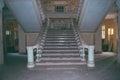Lost world stairs ukraine odessa court roof Stock Photo