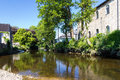 Lostwithiel cornwall river rowey at england uk Stock Photo