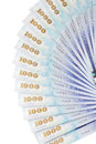 A lot of 1000 New Taiwan Dollars bill Stock Photography