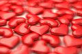 A lot of 3d hearts in defocus Royalty Free Stock Photography