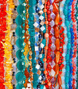 Lot of beads from different minerals and stone Royalty Free Stock Photos