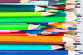 Lot of colorful pencils macro photo background Royalty Free Stock Photography