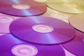 A lot of compact disks background Stock Image