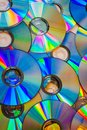 A lot of dvds Royalty Free Stock Photo