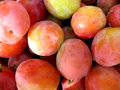 Lot of fresh plums Royalty Free Stock Photos