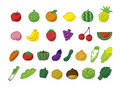 A lot of fruit vegetables Royalty Free Stock Images
