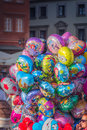 Lot inflatable helium balloons Royalty Free Stock Photo
