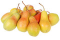 A lot of pears on white Royalty Free Stock Photography