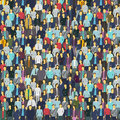 A lot of people, colorful texture. Background from the crowd Royalty Free Stock Photo