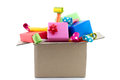 A lot of presents Royalty Free Stock Photo