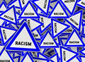 A lot of racism triangle road sign