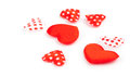 A lot of red hearts on white background Stock Images