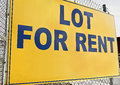 Lot for Rent Royalty Free Stock Images