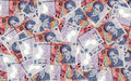 A lot of romanian money lei ron banknotes Royalty Free Stock Photography