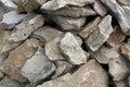 A a lot of rough rocks photo Stock Photo