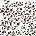 A lot of soccer balls Royalty Free Stock Photos