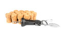 A lot of wine corks and corkscrew Royalty Free Stock Photo