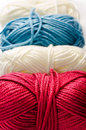 A lot of yarn as a background Stock Photography