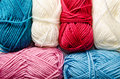 A lot of yarn as a background Stock Images