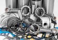 Lots of auto spare parts Royalty Free Stock Images