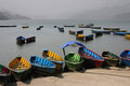 Lots of boats on Phewa lake Royalty Free Stock Photos