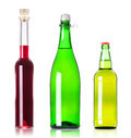 Lots bottles of various alcoholic drinks Royalty Free Stock Photo