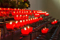 Lots of church candles red Stock Image