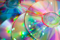 Lots of  color cd disks Royalty Free Stock Images