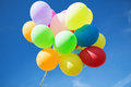 Lots of colorful balloons in the sky and celebration concept Royalty Free Stock Image