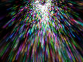Lots of colorful particles emission Royalty Free Stock Image