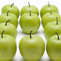 Lots of crispy green apples Royalty Free Stock Photos