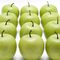 Lots of crispy green apples Royalty Free Stock Photography