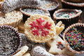 Lots of different tasty cookies various holiday brownies Stock Photography